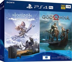 Игровая приставка PlayStation 4 Pro 1Tb Black (God of War + Horizon Zero Dawn CE) (9994602)